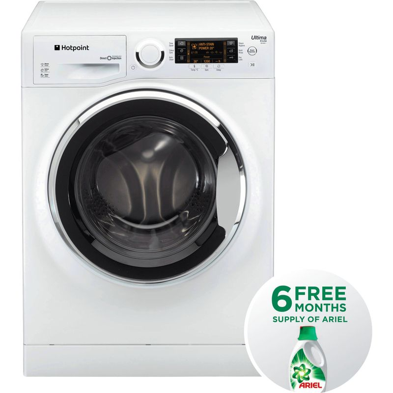 Hotpoint-Washing-machine-Free-standing-RPD-9647-JX-UK-White-Front-loader-A----Frontal