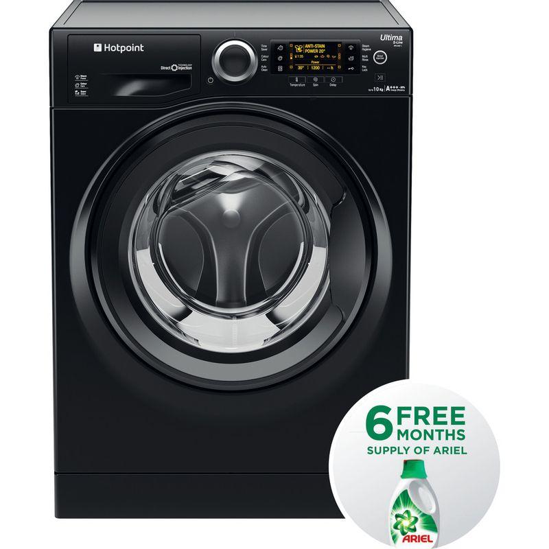 Hotpoint-Washing-machine-Free-standing-RPD-10457-JKK-UK-Black-Front-loader-A----Frontal