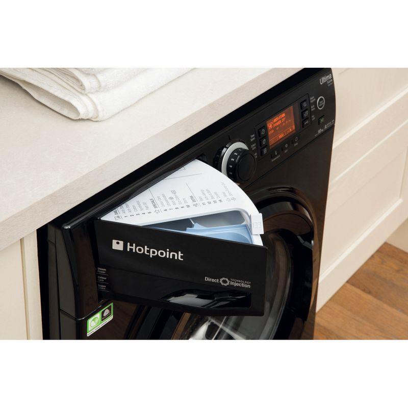 Hotpoint-Washing-machine-Free-standing-RPD-10457-JKK-UK-Black-Front-loader-A----Drawer