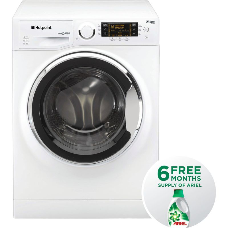 Hotpoint-Washing-machine-Free-standing-RPD-10657-JX-UK-White-Front-loader-A----Frontal