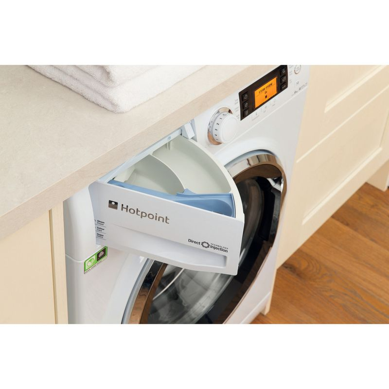 Hotpoint-Washing-machine-Free-standing-RPD-10657-JX-UK-White-Front-loader-A----Drawer