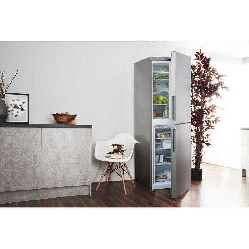 Hotpoint-Fridge-Freezer-Free-standing-XAO85-T1I-G-Graphite-2-doors-Lifestyle-perspective-open