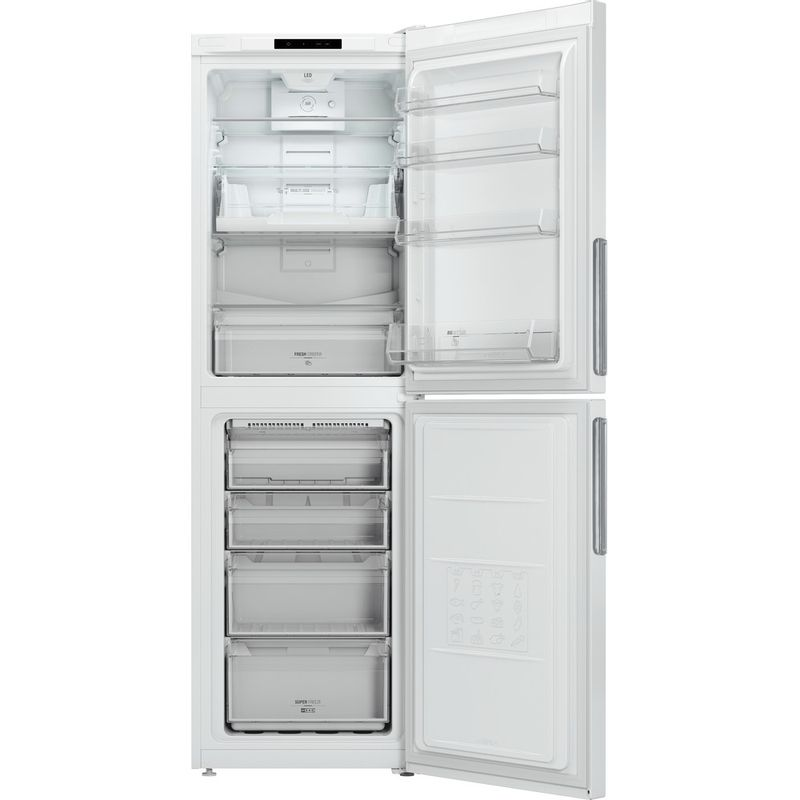 Hotpoint-Fridge-Freezer-Free-standing-LAO85-FF1I-W-White-2-doors-Frontal_Open