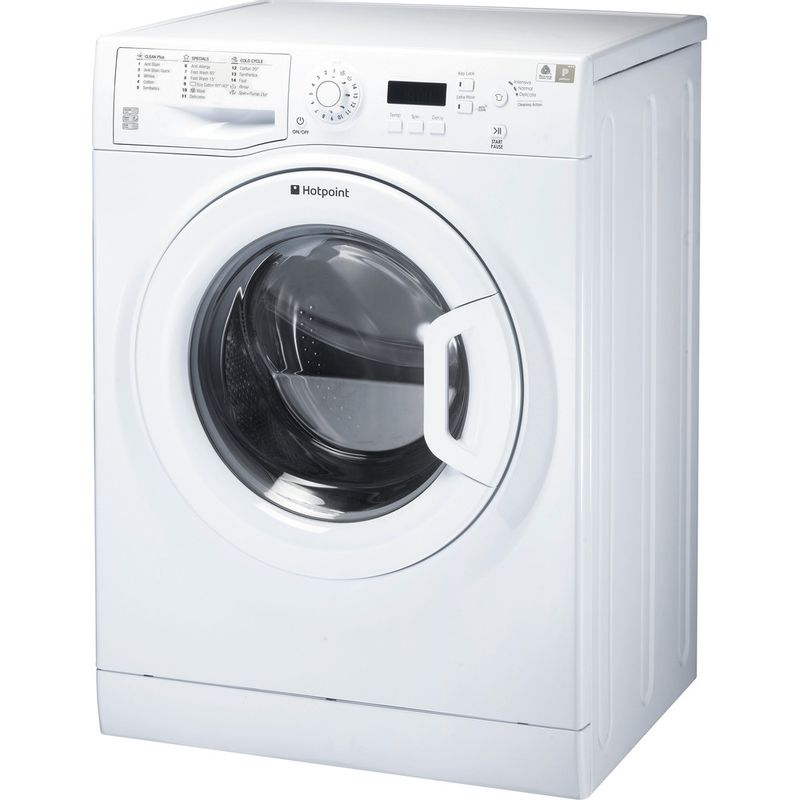 Hotpoint-Washing-machine-Free-standing-WMBF-844P-UK-White-Front-loader-A----Perspective