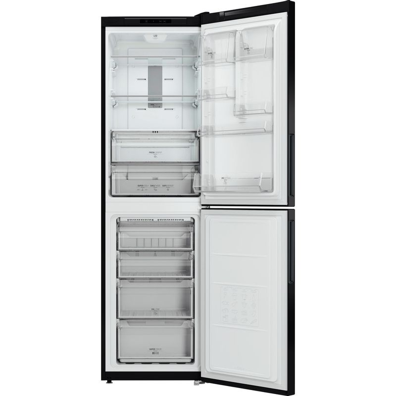 Hotpoint-Fridge-Freezer-Free-standing-XEX95-T1I-KZ-Black-2-doors-Frontal_Open