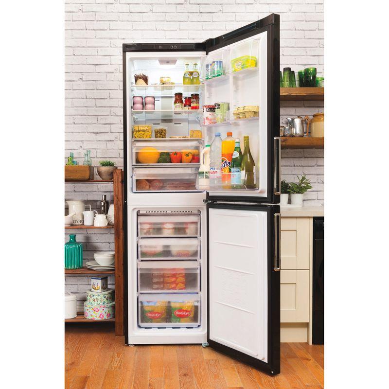 Hotpoint-Fridge-Freezer-Free-standing-XEX95-T1I-KZ-Black-2-doors-Lifestyle_Frontal_Open