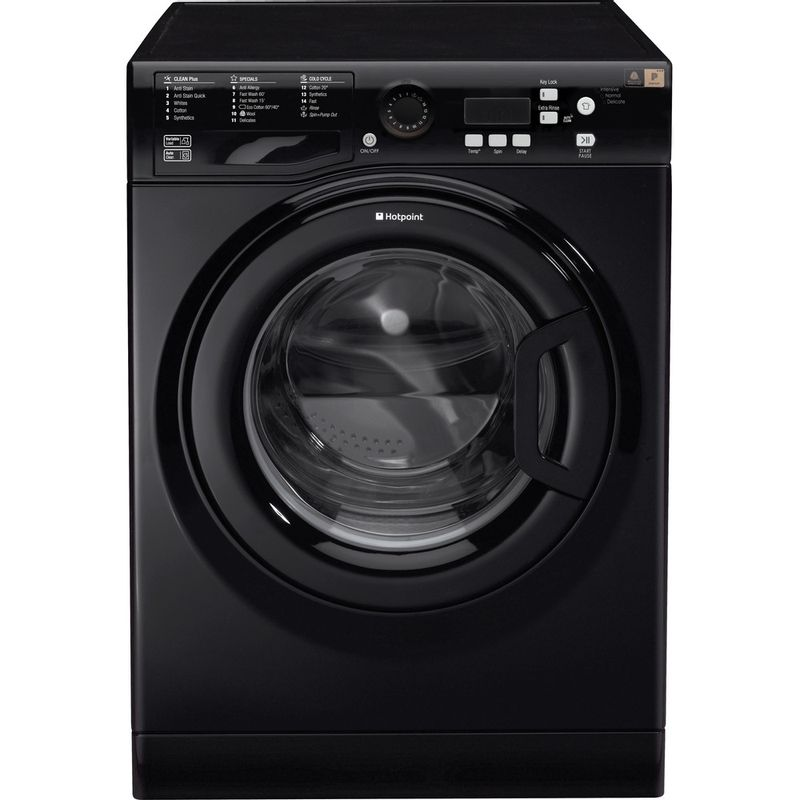 Hotpoint-Washing-machine-Free-standing-WMBF-944K-UK-Black-Front-loader-A----Frontal