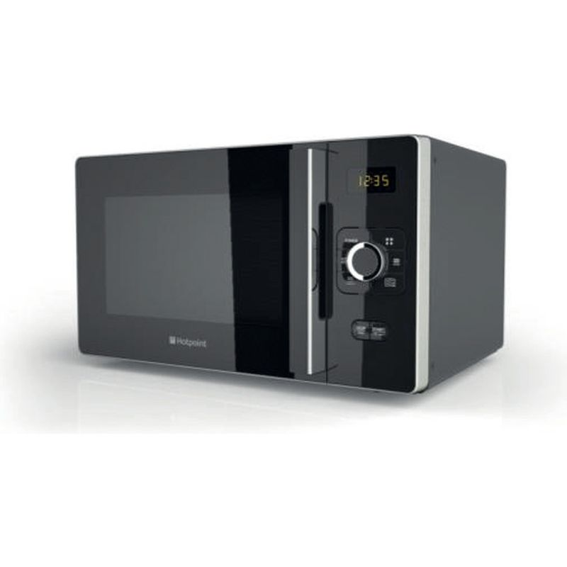 Hotpoint-Microwave-Free-standing-MWH-2521-B-UK-Black-Electronic-25-MW-only-700-Perspective