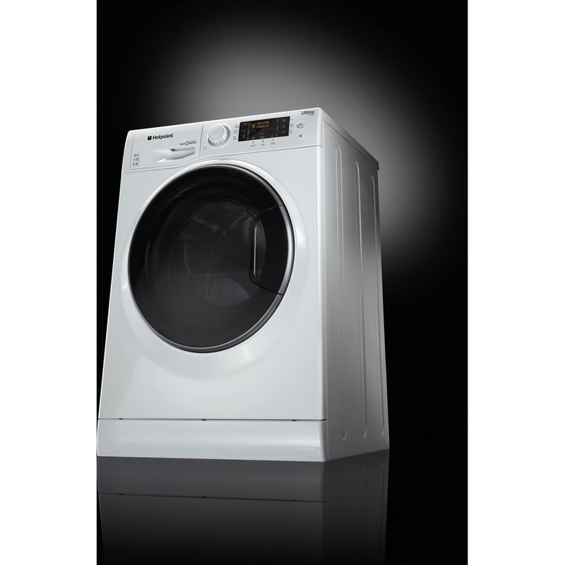 Hotpoint-Washing-machine-Free-standing-RPD-10667-DD-UK-White-Front-loader-A----Perspective