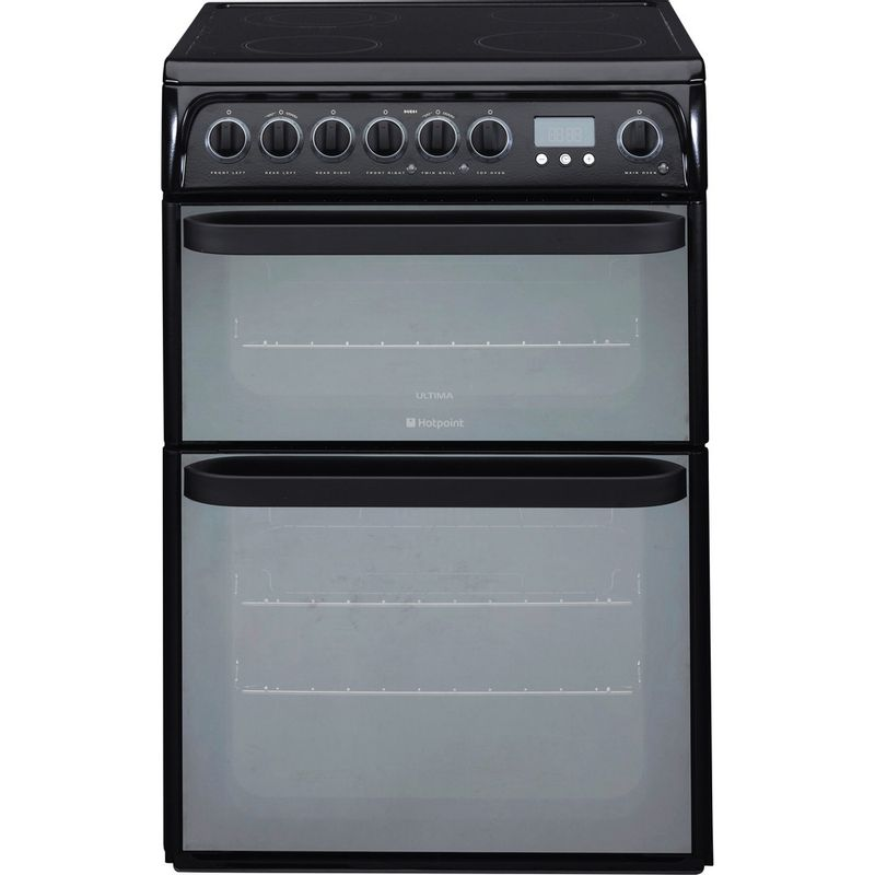 Hotpoint-Double-Cooker-DUE61BC-Charcoal-grey-A-Vitroceramic-Frontal