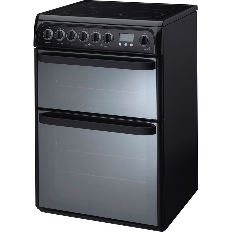 Hotpoint-Double-Cooker-DUE61BC-Charcoal-grey-A-Vitroceramic-Perspective