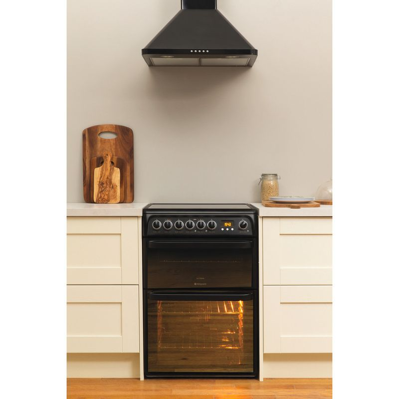 Hotpoint-Double-Cooker-DUE61BC-Charcoal-grey-A-Vitroceramic-Lifestyle-frontal