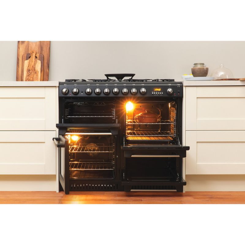 Hotpoint-Double-Cooker-CH10456GF-S-Antracite-B-Enamelled-Sheetmetal-Lifestyle_Frontal_Open