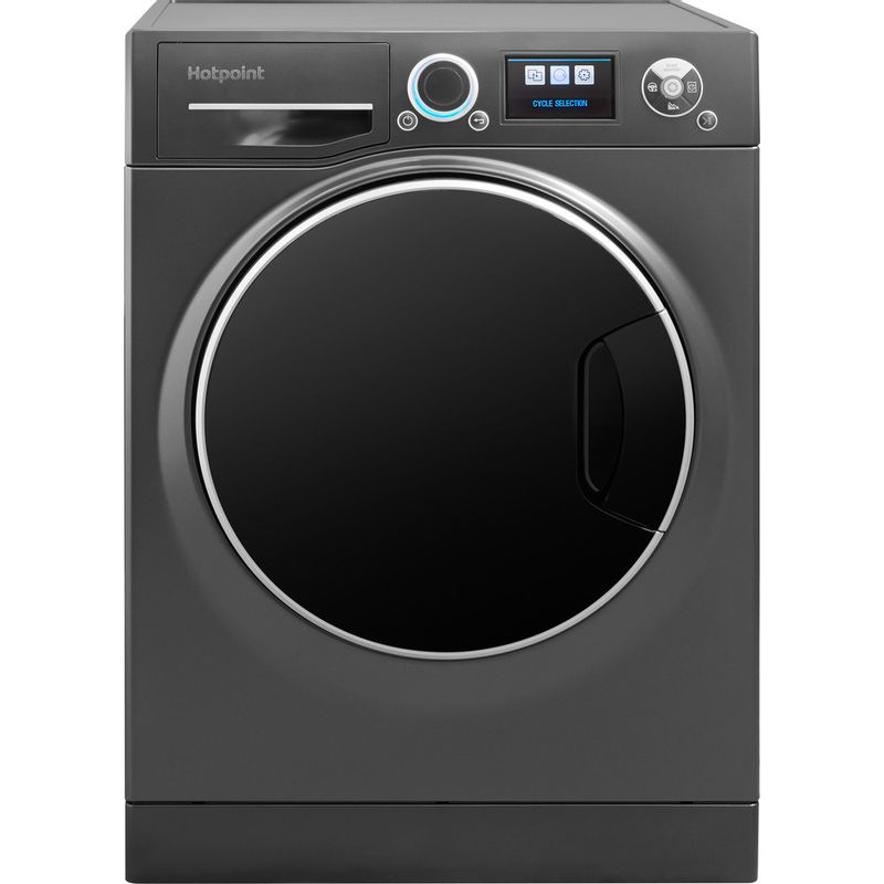 Hotpoint-Washing-machine-Free-standing-RZ-1066-B-UK-Black-Front-loader-A----Frontal
