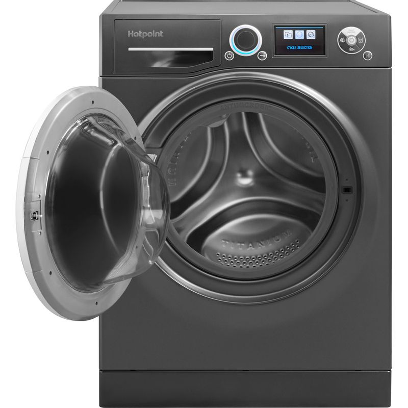 Hotpoint-Washing-machine-Free-standing-RZ-1066-B-UK-Black-Front-loader-A----Frontal_Open