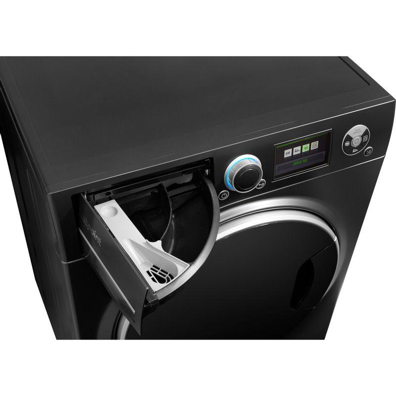 Hotpoint-Washing-machine-Free-standing-RZ-1066-B-UK-Black-Front-loader-A----Drawer