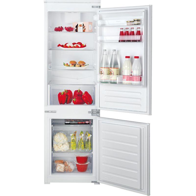 Hotpoint-Fridge-Freezer-Built-in-HMCB-7030-AA.UK-Steel-2-doors-Frontal-open