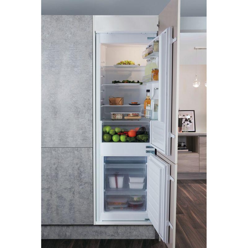 Hotpoint-Fridge-Freezer-Built-in-HMCB-7030-AA.UK-Steel-2-doors-Lifestyle-frontal-open