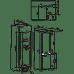 Hotpoint-Fridge-Freezer-Built-in-HMCB-7030-AA.UK-Steel-2-doors-Technical-drawing