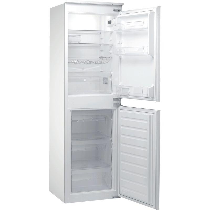 Hotpoint-Fridge-Freezer-Built-in-HMCB-50501-AA.UK-Inox-2-doors-Perspective-open