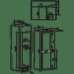 Hotpoint-Fridge-Freezer-Built-in-HMCB-50501-AA.UK-Inox-2-doors-Technical-drawing