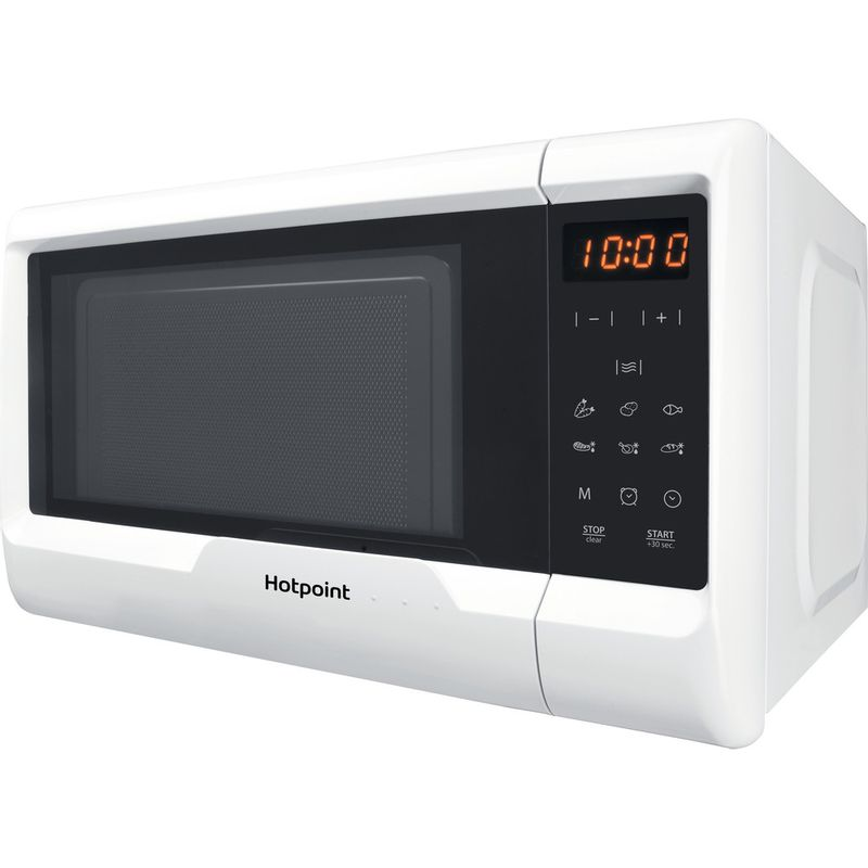Hotpoint-Microwave-Free-standing-MWH-2031-MW0-White-Electronic-20-MW-only-700-Perspective