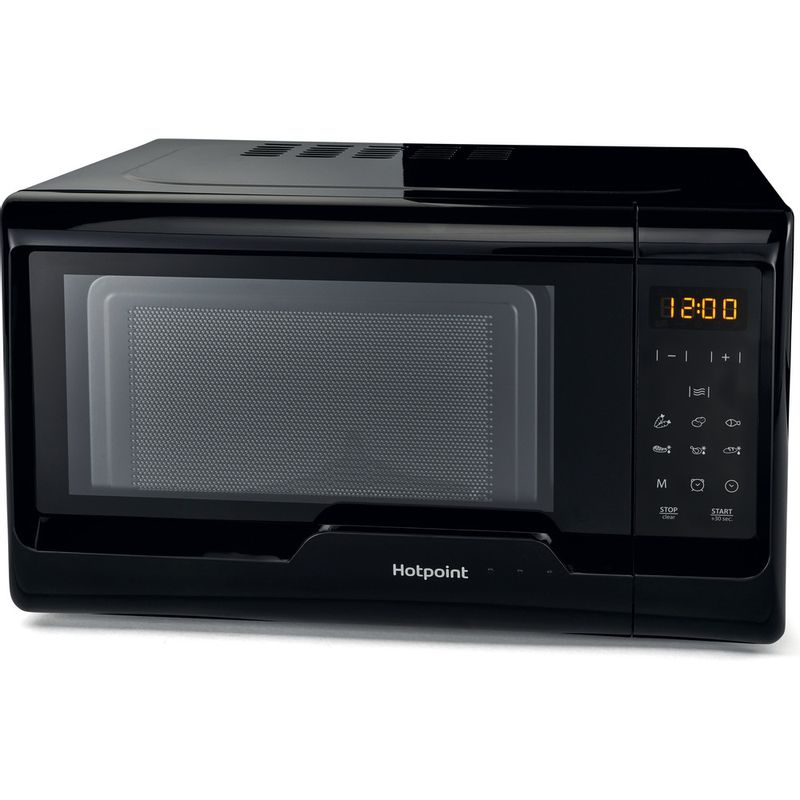 Hotpoint-Microwave-Free-standing-MWH-2031-MB0-Black-Electronic-20-MW-only-700-Perspective