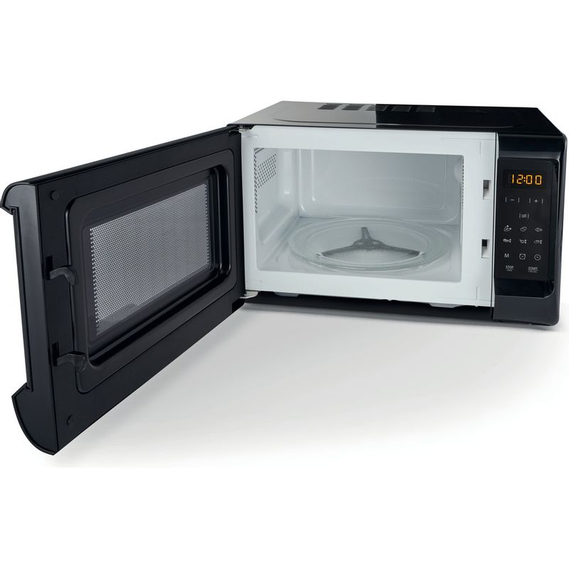 Hotpoint-Microwave-Free-standing-MWH-2031-MB0-Black-Electronic-20-MW-only-700-Perspective_Open