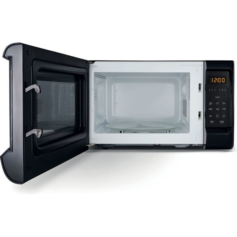 Hotpoint-Microwave-Free-standing-MWH-2031-MB0-Black-Electronic-20-MW-only-700-Frontal_Open