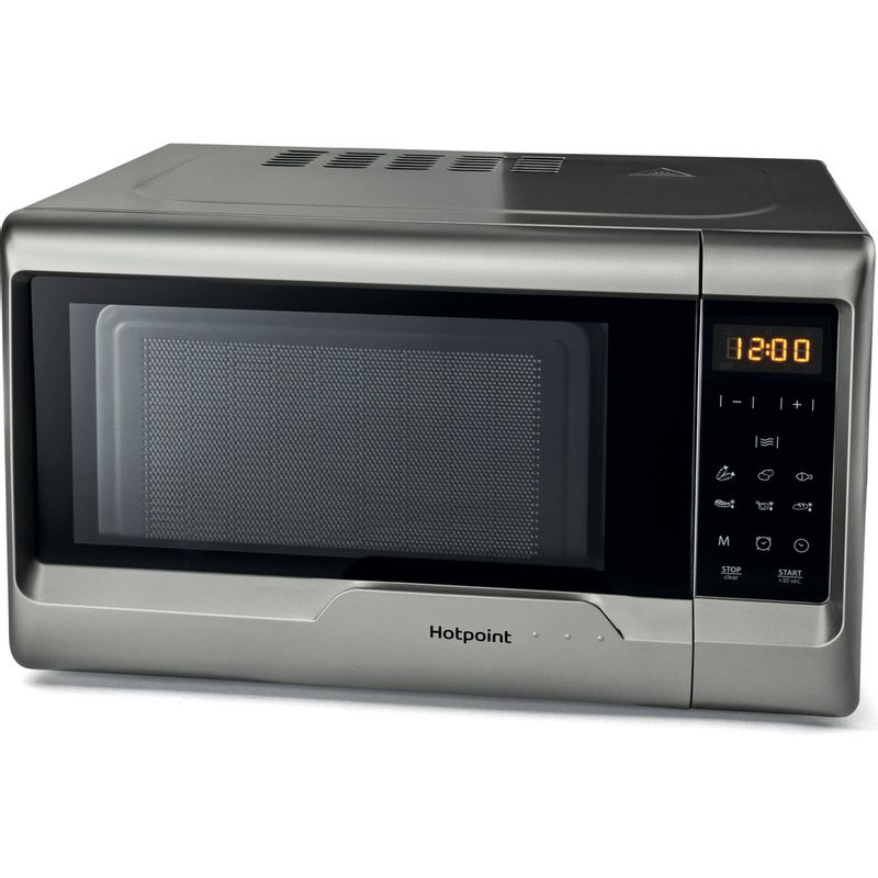 Hotpoint-Microwave-Free-standing-MWH-2031-MS0-Silver-painted-Electronic-20-MW-only-700-Perspective