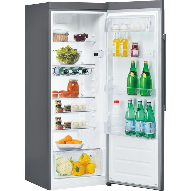 Hotpoint-Refrigerator-Free-standing-SH6-A1Q-GRD-UK-Graphite-Perspective-open