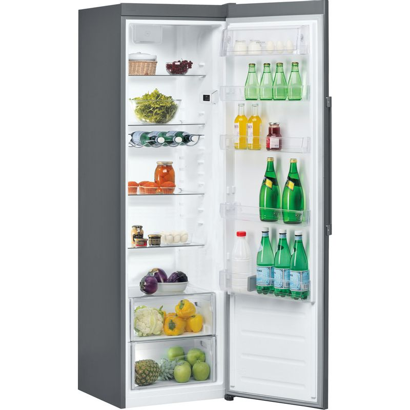Hotpoint-Refrigerator-Free-standing-SH8-1Q-GRFD-UK-Graphite-Perspective-open
