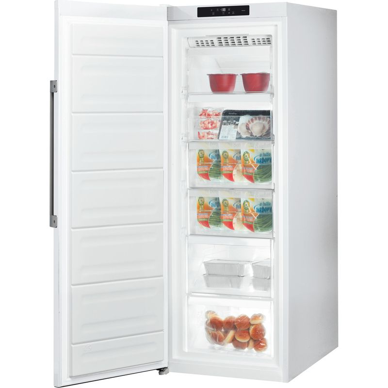 Hotpoint-Freezer-Free-standing-UH6-F1C-W-UK-Global-white-Perspective-open
