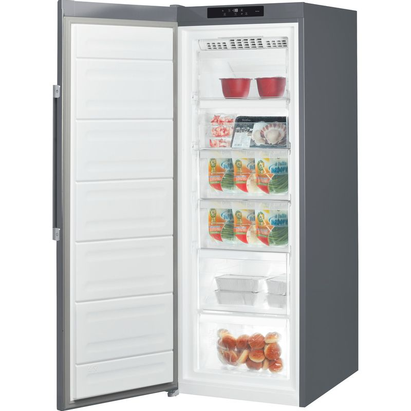 Hotpoint-Freezer-Free-standing-UH6-F1C-G-UK-Graphite-Perspective-open