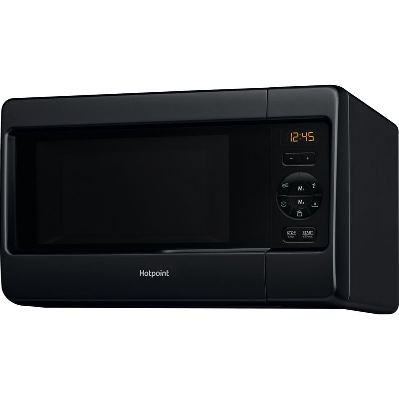 Hotpoint-Microwave-Free-standing-MWH-2421-MB-Black-Electronic-25-MW-only-750-Perspective