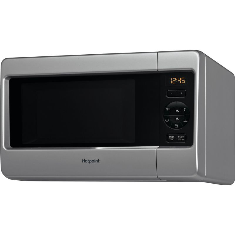 Hotpoint-Microwave-Free-standing-MWH-2421-MS-Silver-Electronic-25-MW-only-750-Perspective