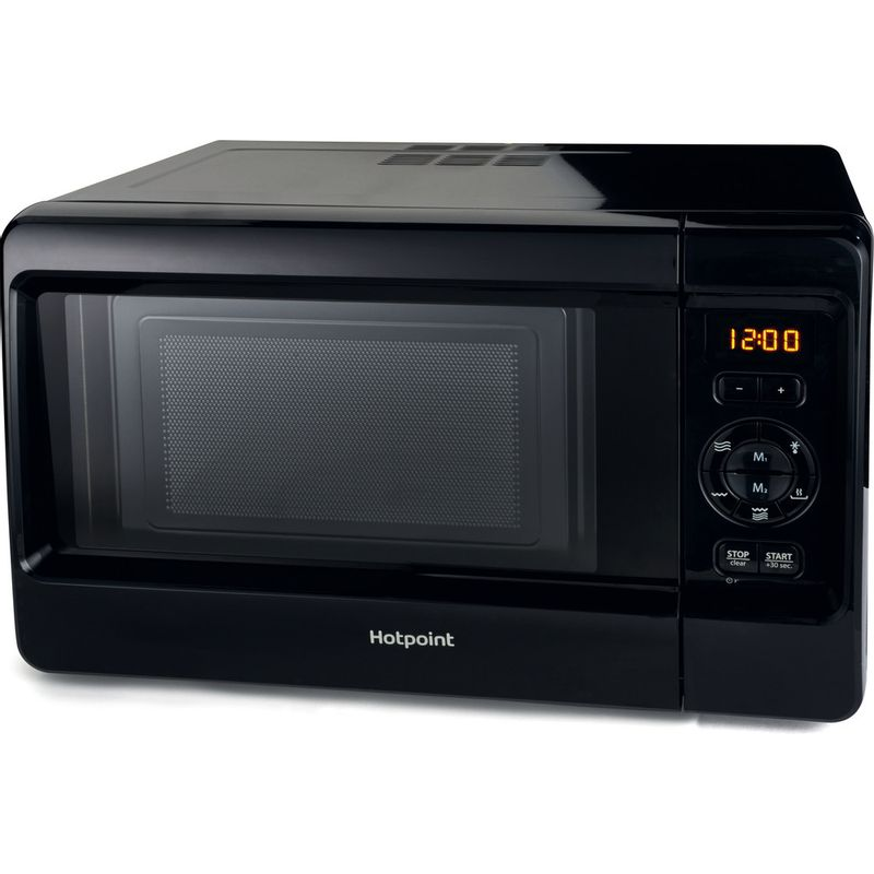 Hotpoint-Microwave-Free-standing-MWH-2422-MB-Black-Electronic-24-MW-Grill-function-750-Perspective