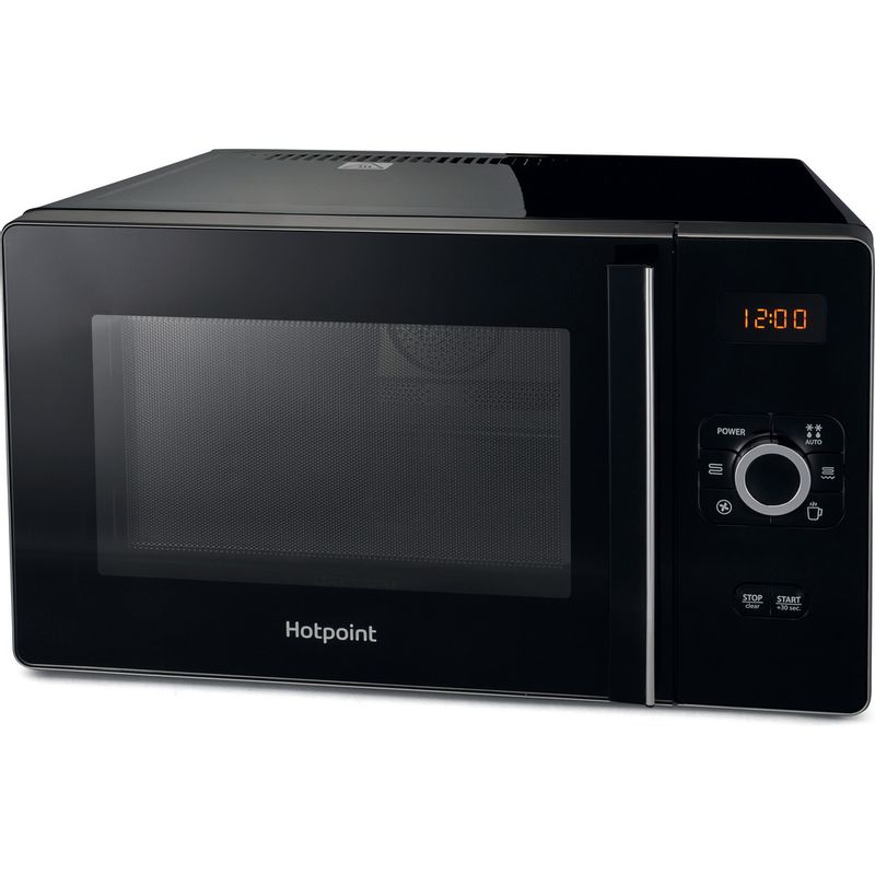 Hotpoint-Microwave-Free-standing-MWH-2524-B-Black-Electronic-25-MW-Combi-700-Perspective