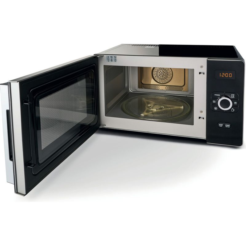 Hotpoint-Microwave-Free-standing-MWH-2524-B-Black-Electronic-25-MW-Combi-700-Perspective_Open