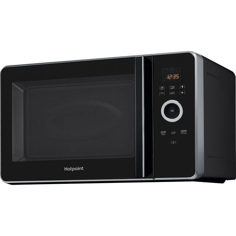 Hotpoint-Microwave-Free-standing-MWH-30243-B-Black-Electronic-30-MW-Combi-1000-Perspective
