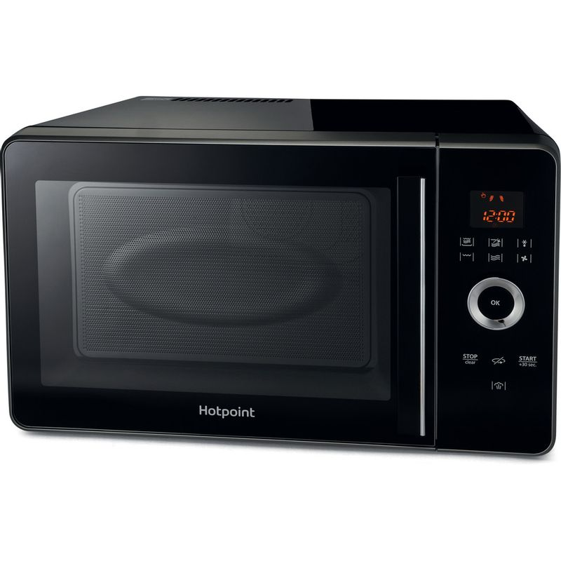 Hotpoint-Microwave-Free-standing-MWH-30243-B-Black-Electronic-30-MW-Combi-1000-Frontal