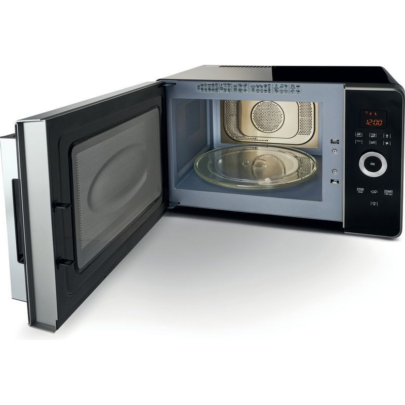 Hotpoint-Microwave-Free-standing-MWH-30243-B-Black-Electronic-30-MW-Combi-1000-Perspective_Open