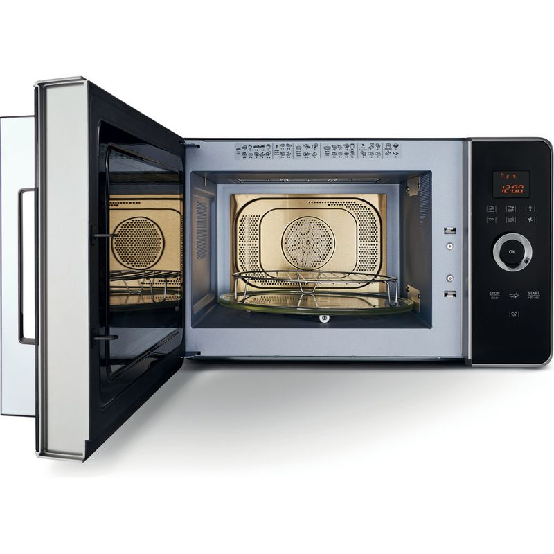 Hotpoint-Microwave-Free-standing-MWH-30243-B-Black-Electronic-30-MW-Combi-1000-Frontal_Open