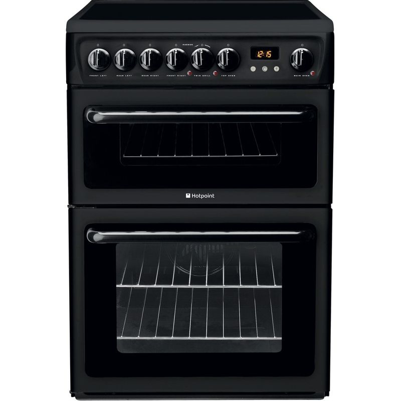 Hotpoint-Double-Cooker-HAE60K-S-Black-B-Vitroceramic-Frontal
