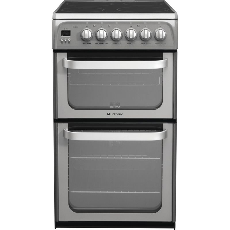 Hotpoint-Double-Cooker-HUE52G-S-Graphite-A-Vitroceramic-Frontal