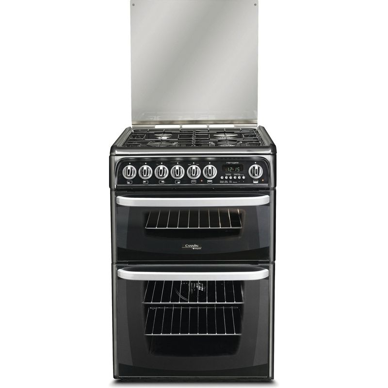 Hotpoint-Double-Cooker-CH60DHKF-S-Black-B-Enamelled-Sheetmetal-Frontal