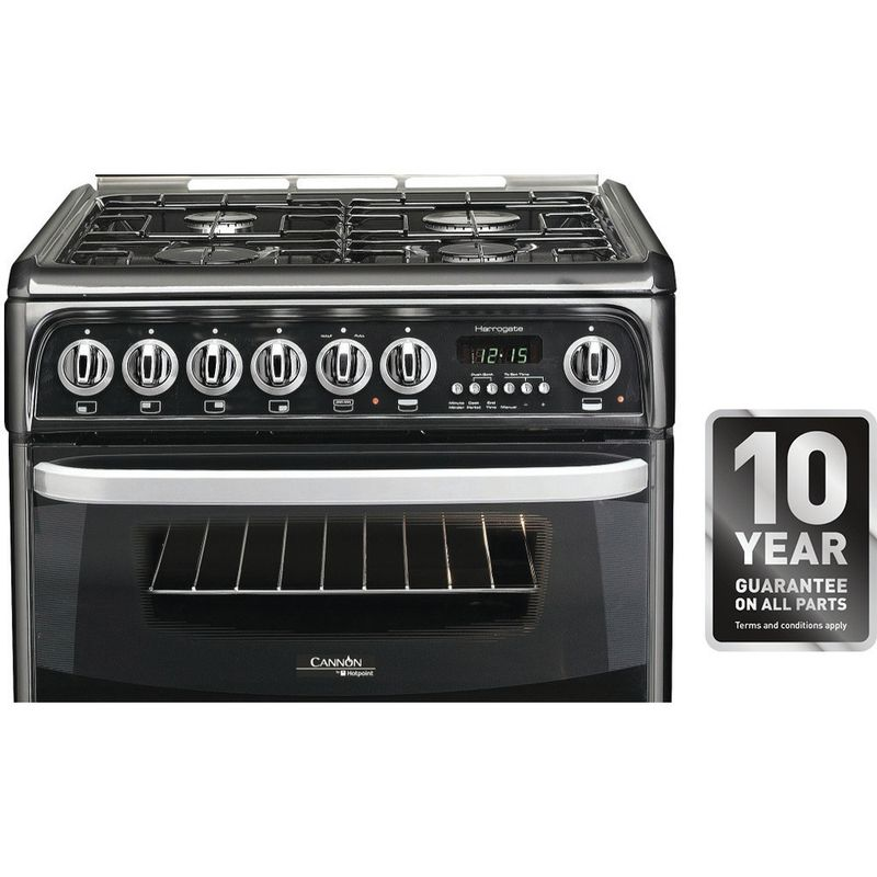 Hotpoint-Double-Cooker-CH60DHKF-S-Black-B-Enamelled-Sheetmetal-Control_Panel