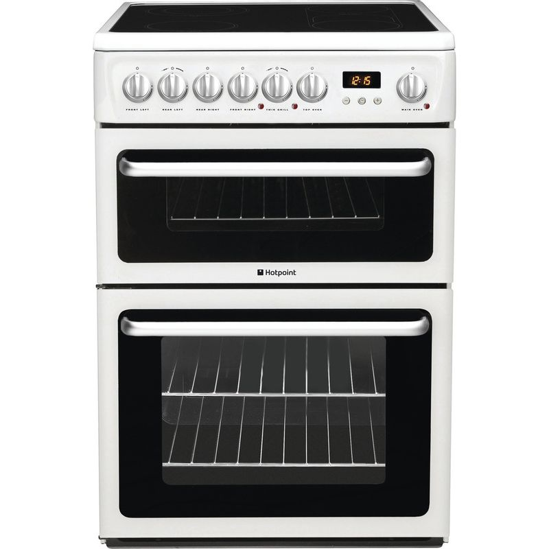 Hotpoint-Double-Cooker-HARE60P-White-B-Vitroceramic-Frontal