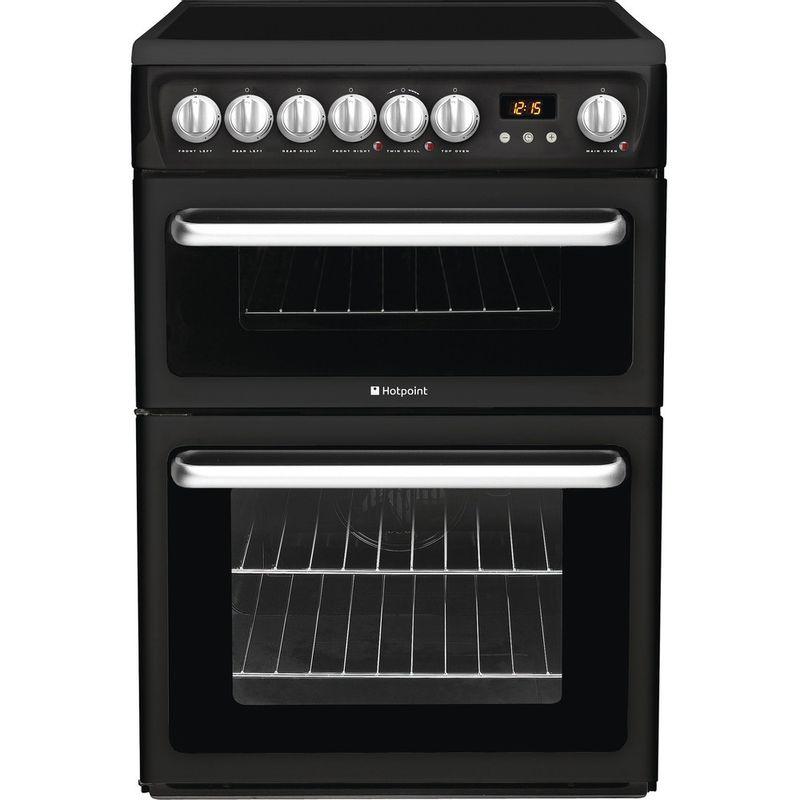 Hotpoint-Double-Cooker-HARE60K-Black-B-Vitroceramic-Frontal