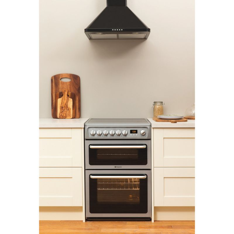 Hotpoint-Double-Cooker-DSC60S-S.1-Silver-B-Vitroceramic-Lifestyle_Frontal